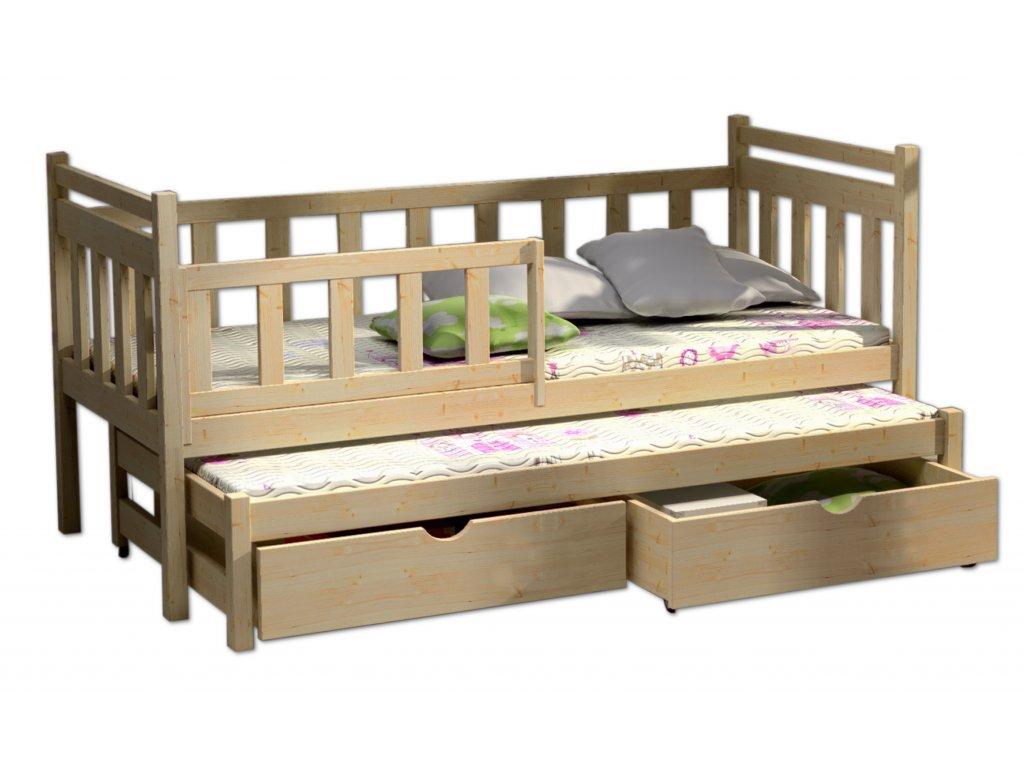d tsk postel s p ist lkou ani ka b l 200 x 80 cm pokoj k. Black Bedroom Furniture Sets. Home Design Ideas